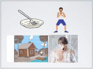 Paasto, treeni, sauna ja avanto